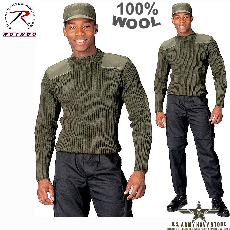 USMC Wool Commando Sweater OD