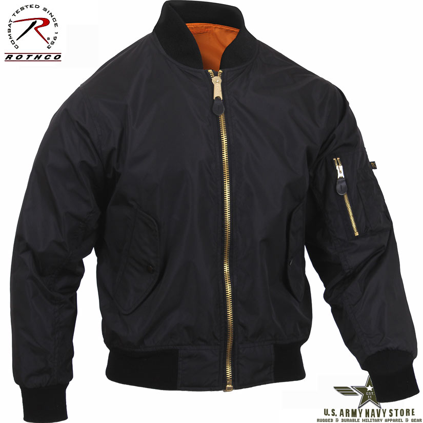 Lightweight MA-1 Flight Jacket Black