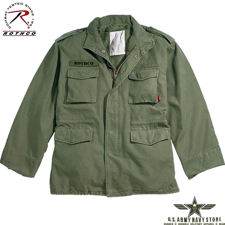 Olive Drab Vintage M-65 Jacket