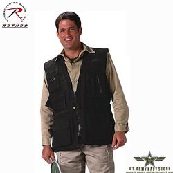Deluxe Safari Outback Vest - Black
