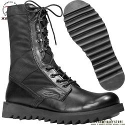 Ripple Sole Jungle Boot / 10'' Black