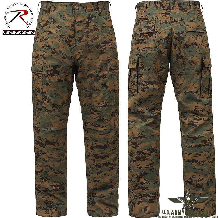 Poly/Cotton Twill BDU Pants Woodland