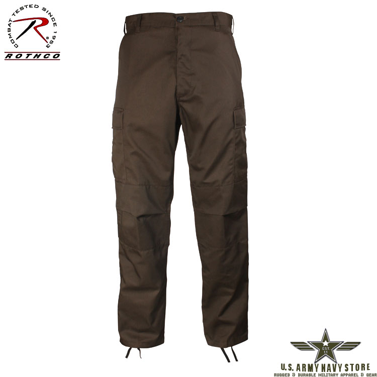 Poly/Cotton Twill BDU Pants - Brown