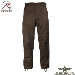 Poly/Cotton Twill BDU Pants - Brown