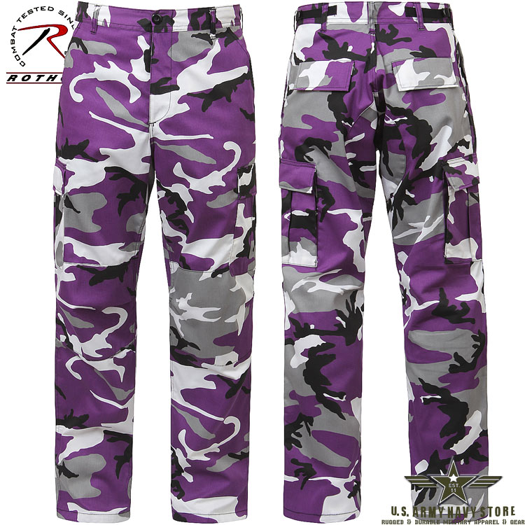 Poly/Cotton Twill BDU Pants - Violet
