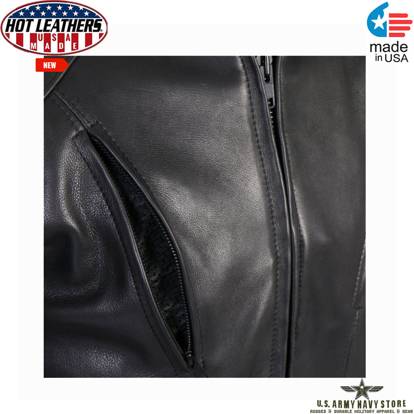 Hot Leathers USA Motorcycle Jacket