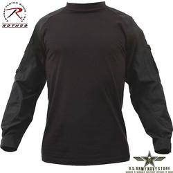 Military Combat Shirt - Black