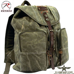 Stone Washed OD H/W Canvas Backpack