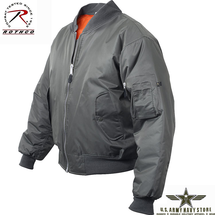 MA-1 Flight Jacket - Gun Metal Grey
