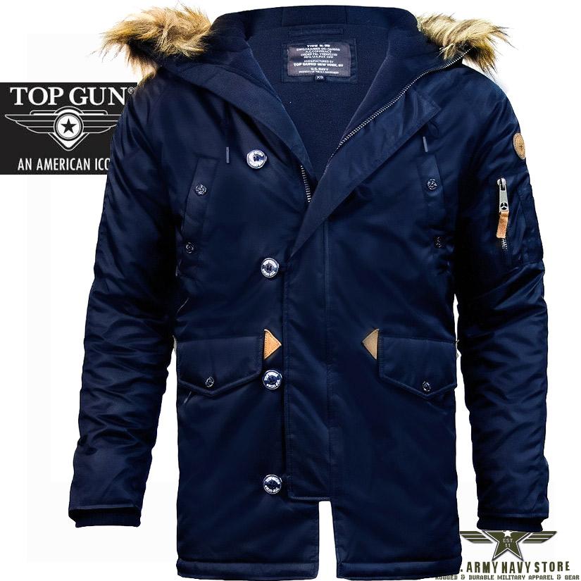 Top Gun Men's N-3B Parka / Navy