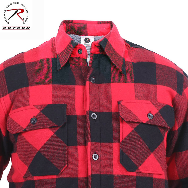 Extra HW Sherpa Lined Flannel Shirt