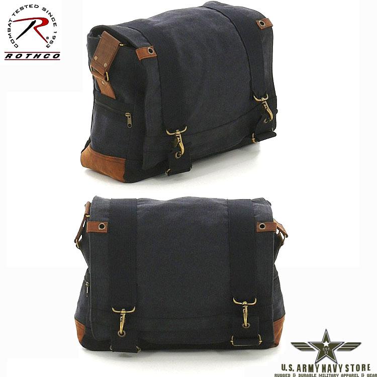 Vintage B-15 Messenger Bag - Black