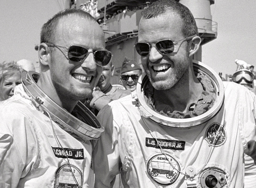 NASA  Astronauts L. Gordon Cooper Jr. and Charles Conrad Jr.