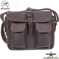 Brown Leather Ammo Shoulder Bag