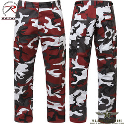 Poly/Cotton Twill BDU Pants Red Camo