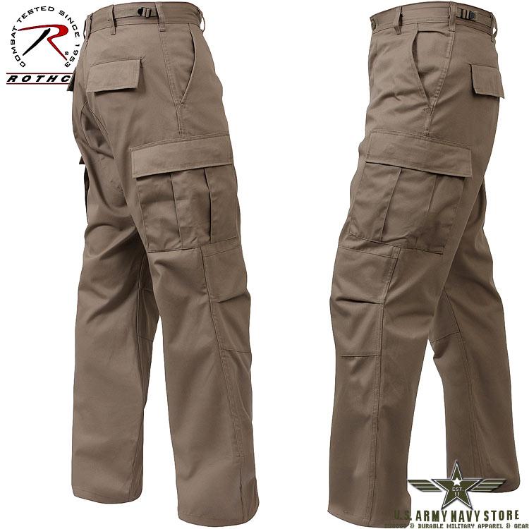 Poly/Cotton Twill BDU Pants - Khaki
