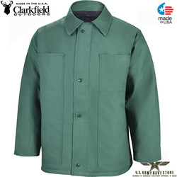 Clarkfield Chore Coat Forest Green