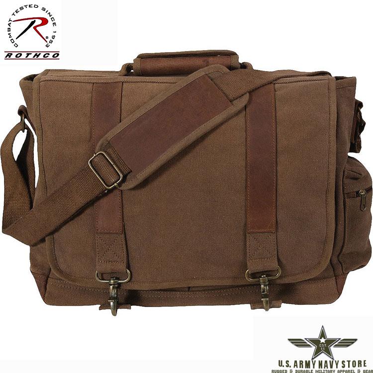 Vintage Pathfinder Laptop Bag Brown