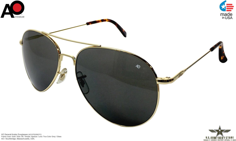 AO Eyewear General Aviator Sunglass