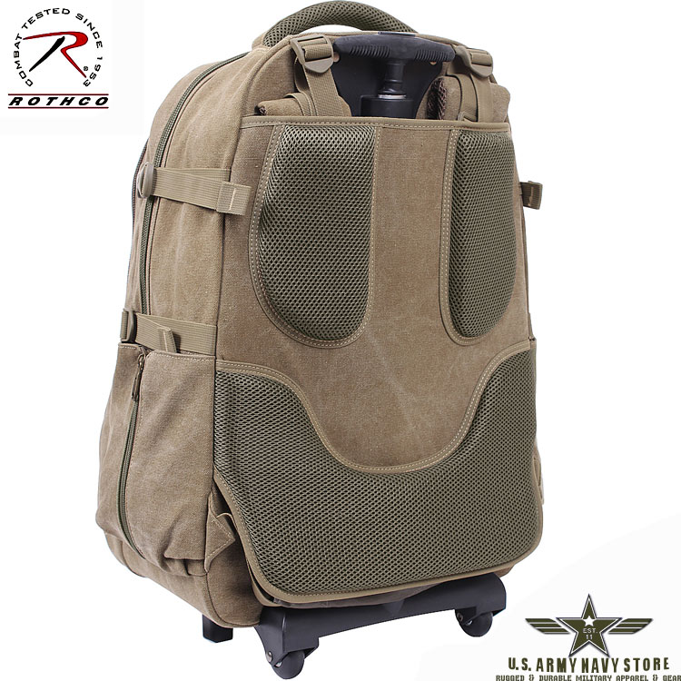 Rolling Canvas Travel Backpack