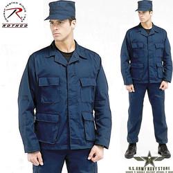 Rip-Stop BDU Shirt - Navy Blue