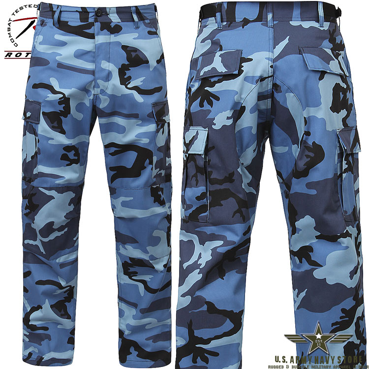 Poly/Cotton Twill BDU Pants Blue Cam