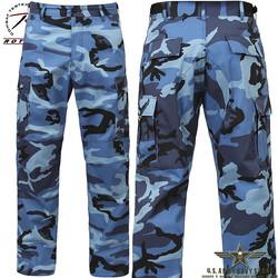 Poly/Cotton Twill BDU Pants - Blue