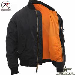 Lightweight MA-1 Flight Jacket Black