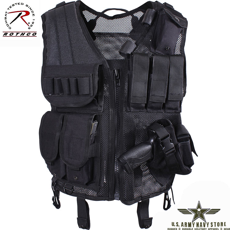 Quick Draw Tactical Vest - Black