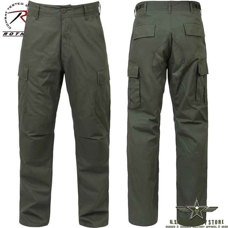 Rip-Stop BDU Pants - Olive Drab