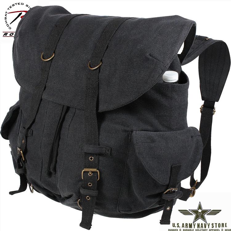 Vintage Weekender Canvas Backpack