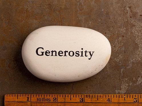 Generosity Word Stone