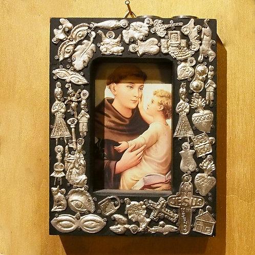 Milagros Saint Anthony with Baby Jesus Frame