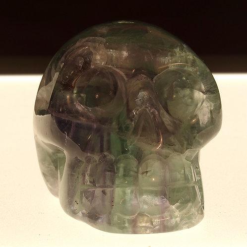Hand Carved Fluorite Crystal Skull