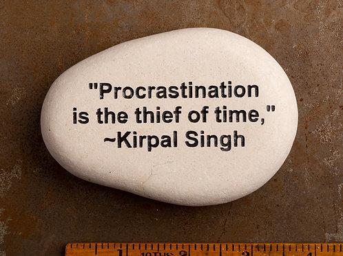 Procrastination Word Stone