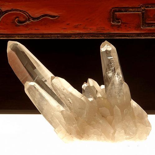 Lemurian Quartz Crystal Cluster