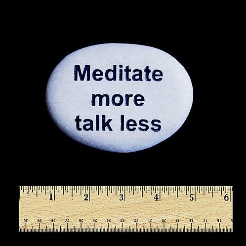 Meditate Word Stone