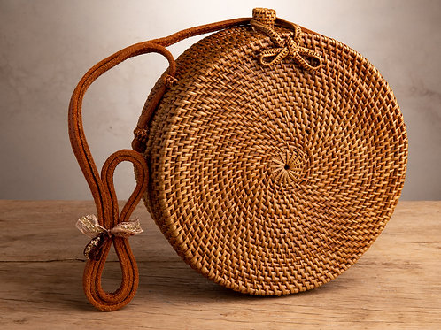 Round Ata Purse - Natural Loop