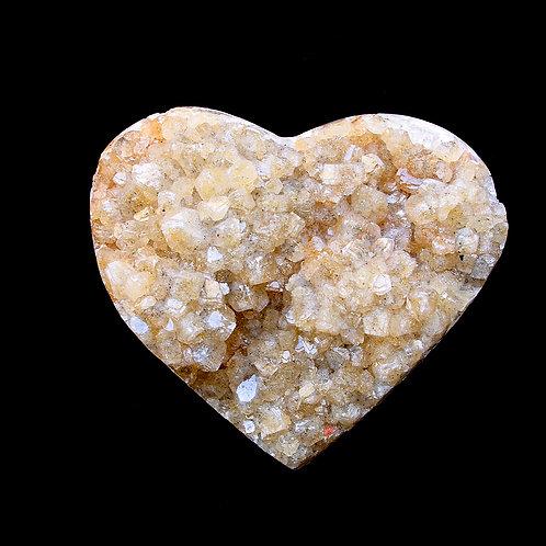 Citrine Druzy Heart