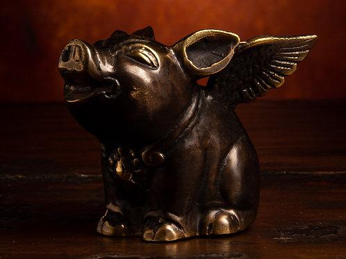 Bronze Flying Pig