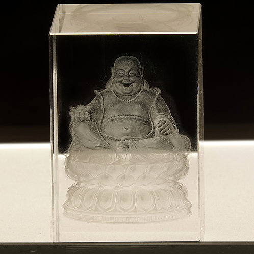 Laser Hotei in Glass Crystal