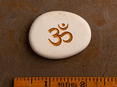Om Symbol - Gold on White