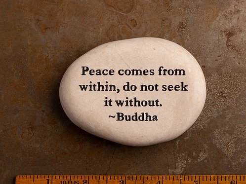 Peace within Word Stone