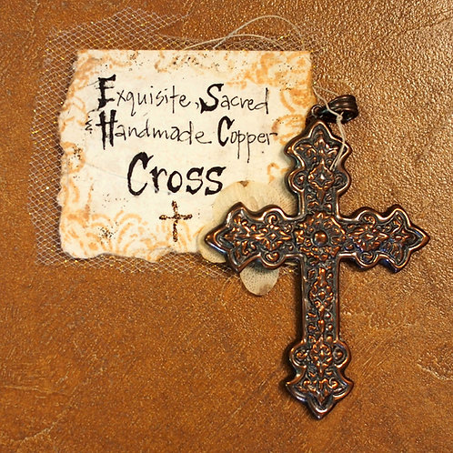 Exquisite, Sacred and Handmade Copper Cross - small