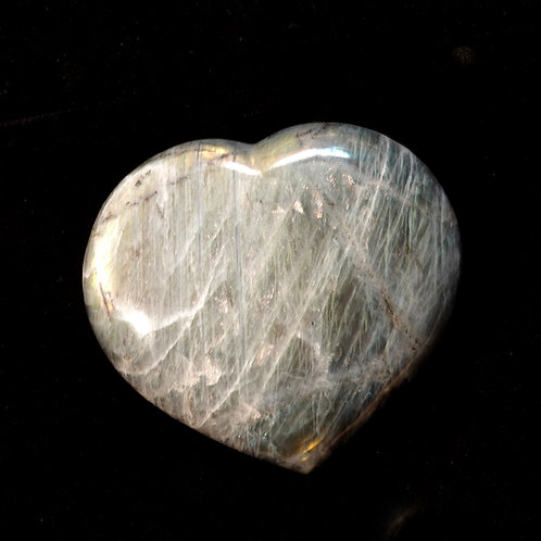 Large Labradorite Heart