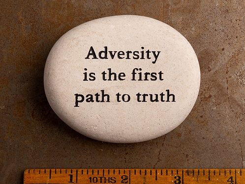 Adversity is the first path to truth