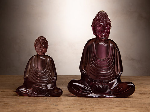 Purple Resin Buddha