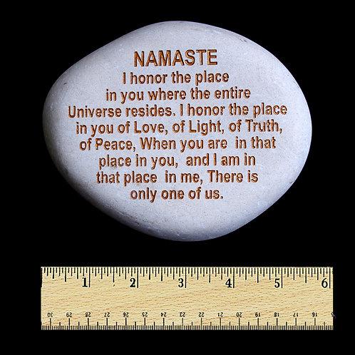 Namaste Word Stone - Gold