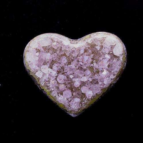 Amethyst Druzy Heart