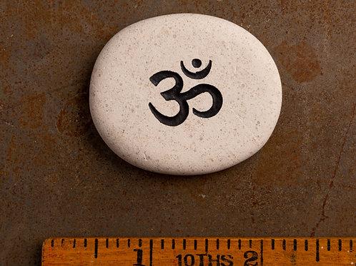 Om Sanskrit Word Stone